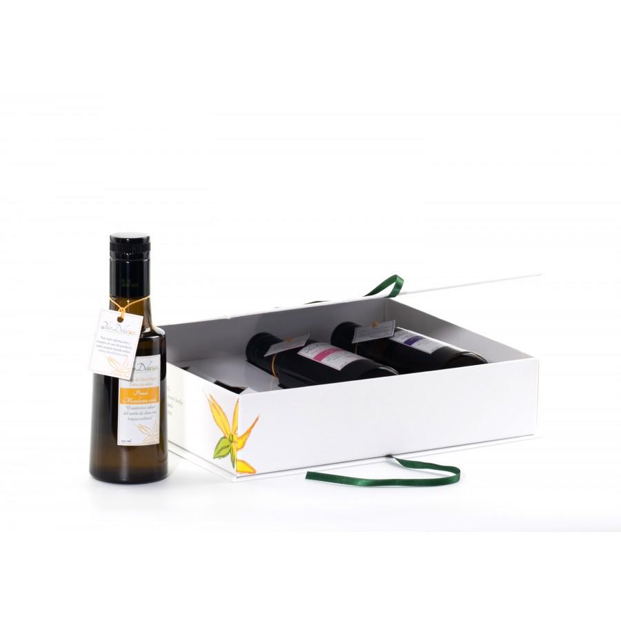 Coffret 3 huiles d'olive aromatisées Terre