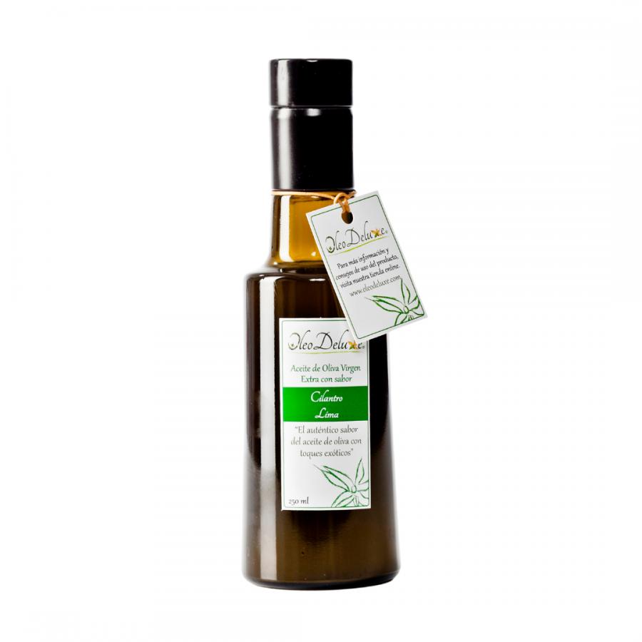 Huile aromatisée saveurs Coriandre et Citron vert